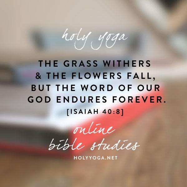 Holy Yoga Bible Studies